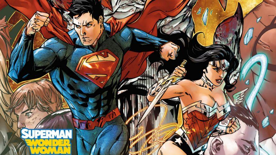 Superman Wonder Woman new 52 wallpaper