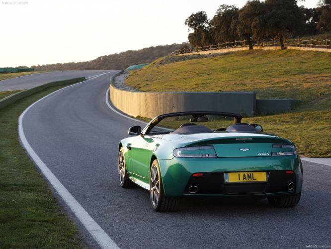Aston Martin V 8 Vantage S Roadster 2012 convertible supercars wallpaper