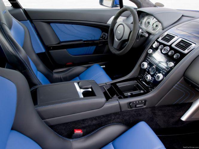 Aston Martin V8 Vantage S 2012 supercar coupe interior wallpaper