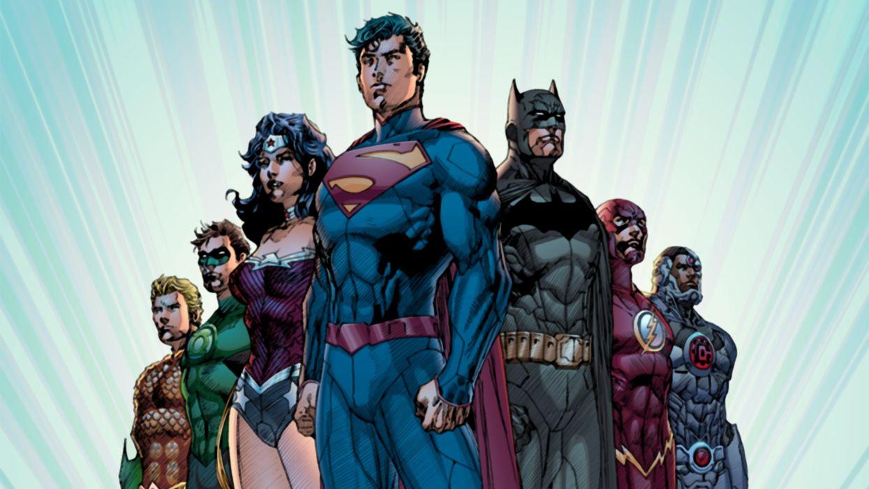 New 52 Justice League Superman Batman Wonder Woman Wallpaper