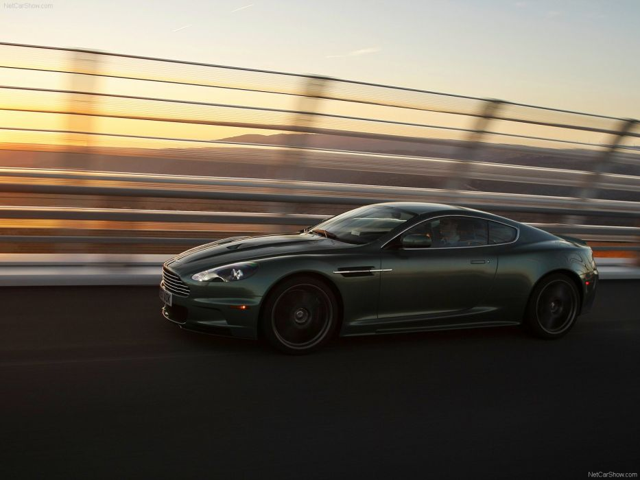Aston Martin DBS Racing Green 2008 coupe v12 wallpaper