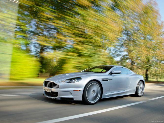 Aston Martin DBS Lightning Silver 2008 coupe supercars wallpaper