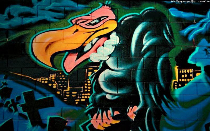 Graffiti Vulture wallpaper