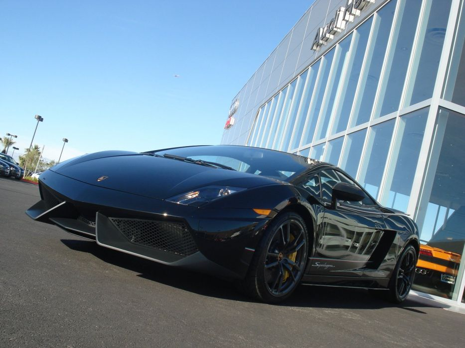 Lamborghini Gallardo lp570-4 Superleggera Italian Dreamcar Supercar Exotic Sportscar noir black nero wallpaper