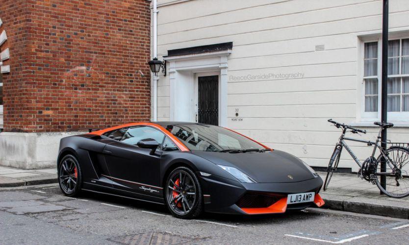 Lamborghini Gallardo lp570-4 Superleggera Italian Dreamcar Supercar Exotic Sportscar noir black nero matt wallpaper