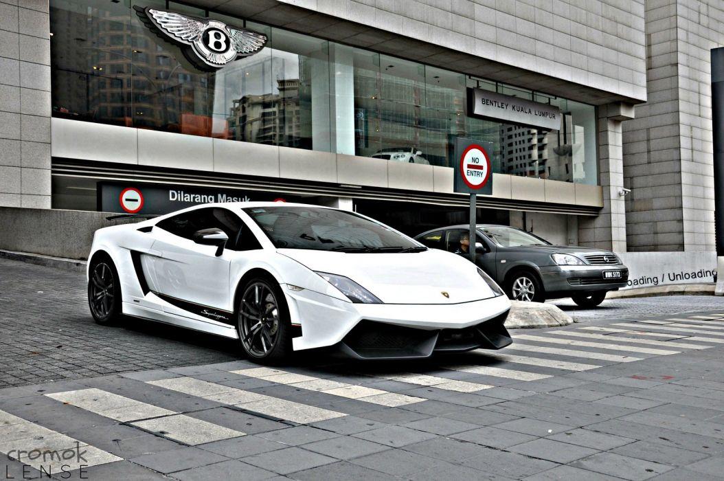 Lamborghini Gallardo lp570-4 Superleggera Italian Dreamcar Supercar Exotic Sportscar blanc white bianco wallpaper