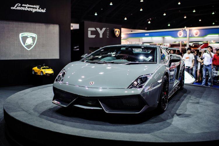 Lamborghini Gallardo lp570-4 Superleggera Italian Dreamcar Supercar Exotic Sportscar gris grey grigio wallpaper