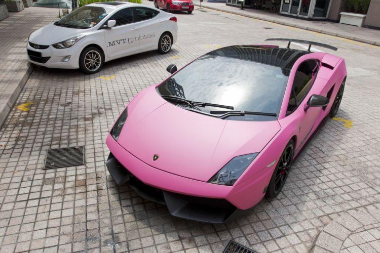 Lamborghini Gallardo lp570-4 Superleggera Italian Dreamcar Supercar Exotic Sportscar vert green verde rose rosa pink wallpaper