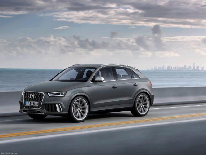 Audi R S Q 3 2014 grey matt suv wallpaper