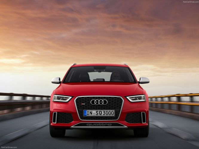 Audi R S Q 3 2014 suv rouge red rosso wallpaper