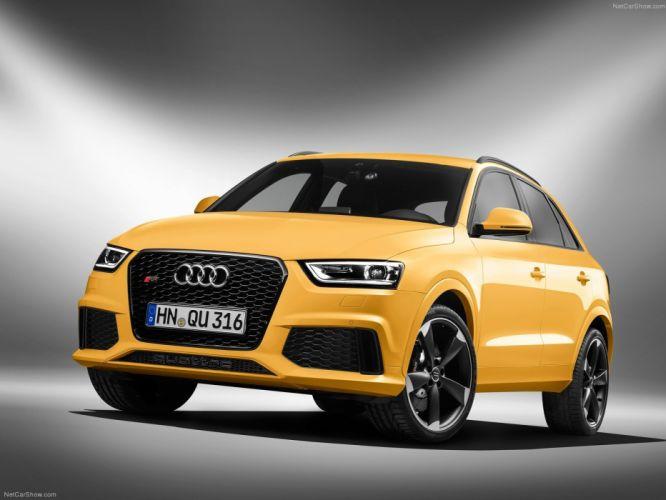 Audi R S Q 3 2014 suv jaune yellow giallo wallpaper
