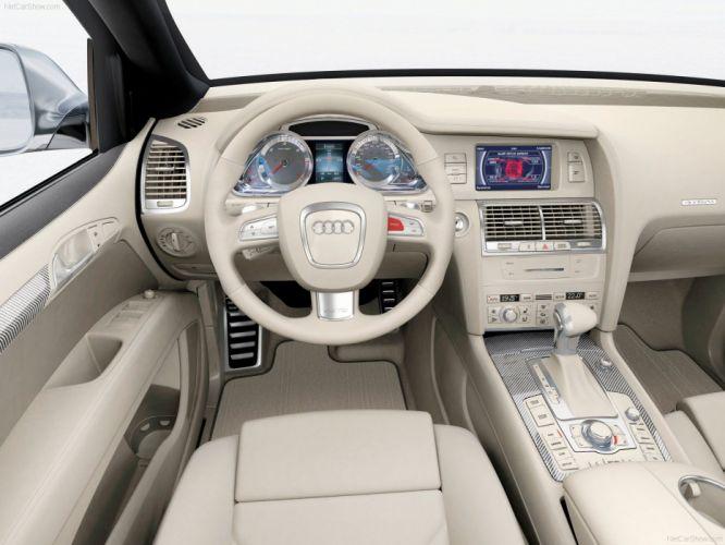 Audi Q7 V12 TDI Concept 2007 interior wallpaper