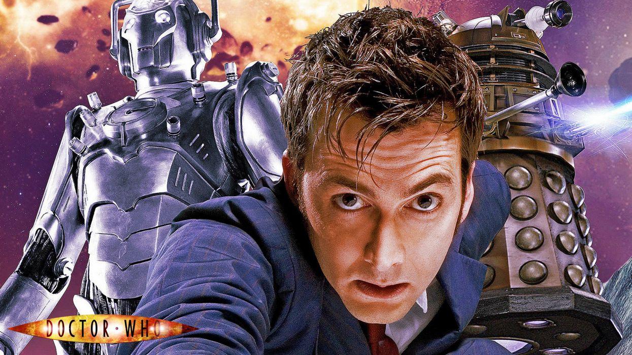 Doctor Who Cyberman and Dalek wallpaper