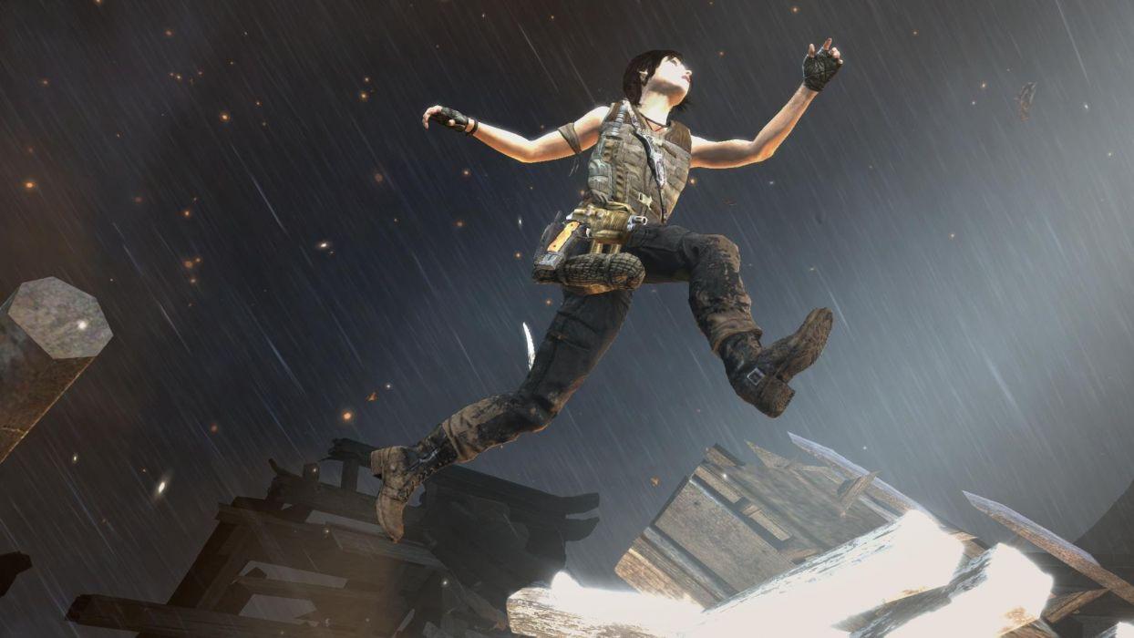 Lara Croft Tombraider Jump wallpaper