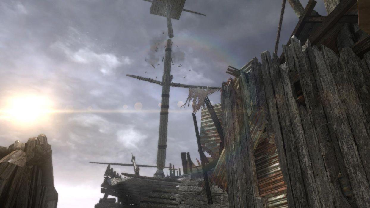 Lara Croft Tombraider Sky Mast wallpaper