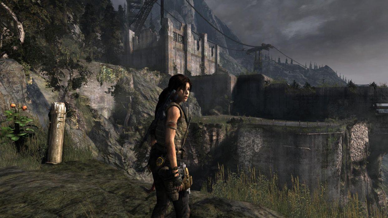 Lara Croft Tombraider Bunker wallpaper
