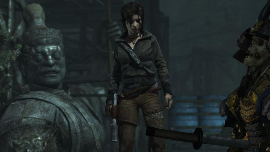 Lara Croft Tombraider Samurai Oni wallpaper