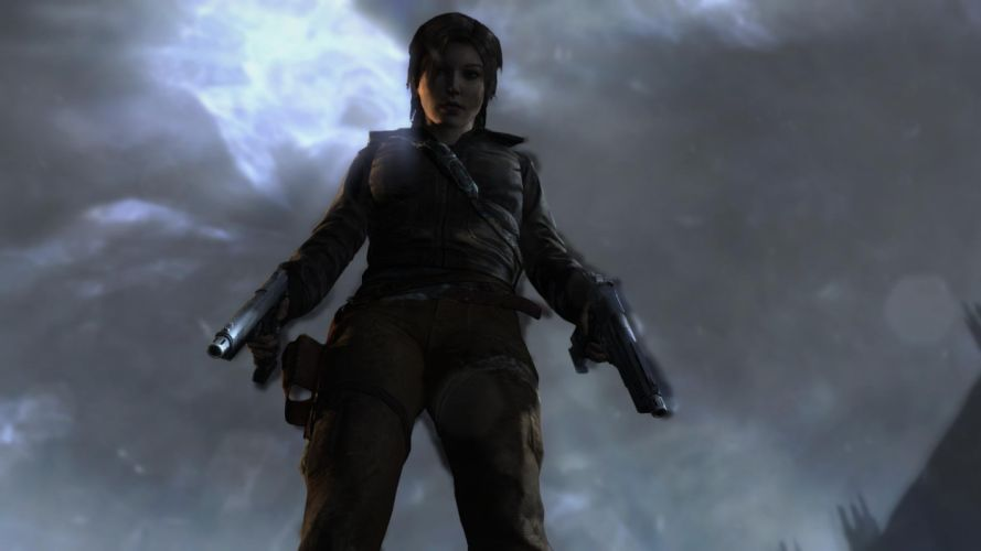 Lara Croft Tombraider Gun wallpaper