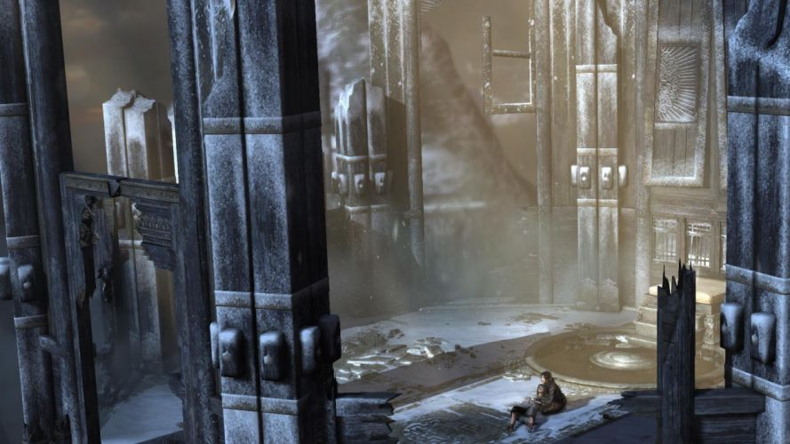 Lara Croft Tombraider sunbeam wallpaper