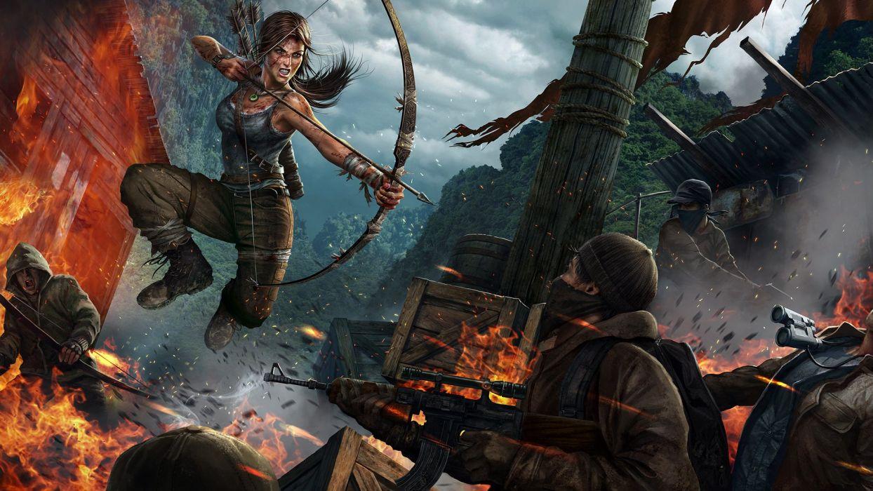 TOMB RAIDER action adventure lara croft fantasy wallpaper