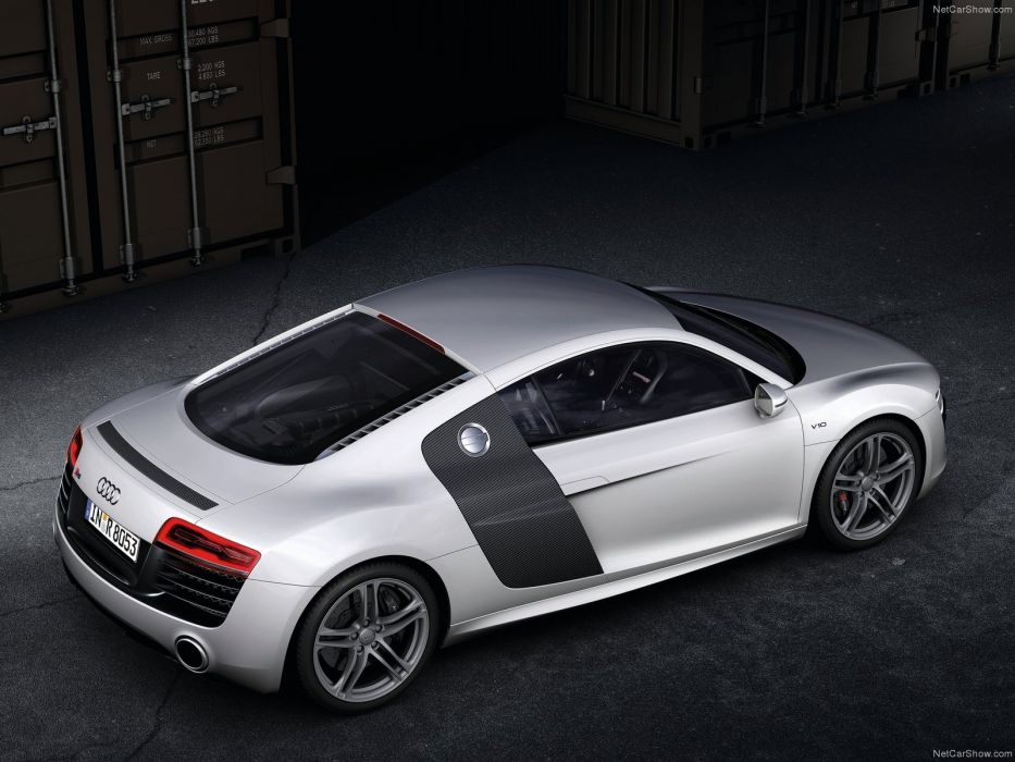 Audi R8 V10 2013 coupe supercars white wallpaper