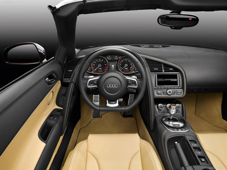 Audi R8 Spyder v10 5-2 FSI quattro supercars interior wallpaper