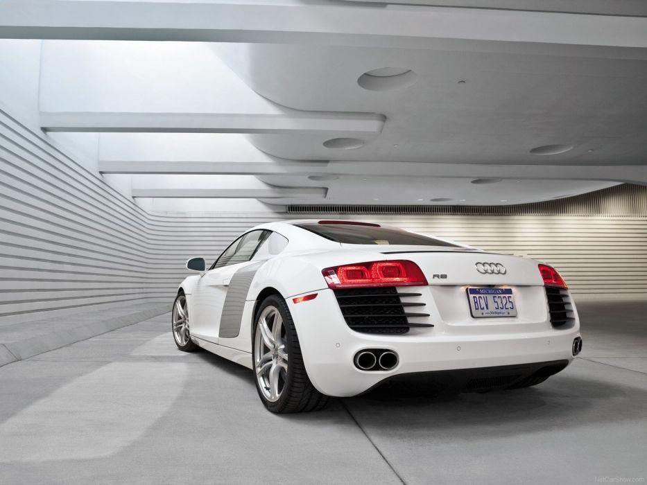 Audi R8 V8 coupe 2008 supercars wallpaper