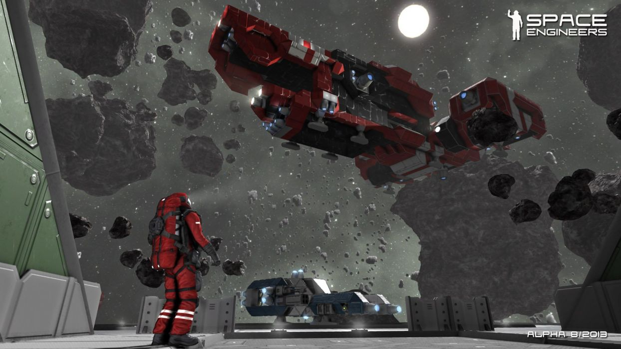 SPACE ENGINEERS sandbox sci-fi simulation spaceship wallpaper