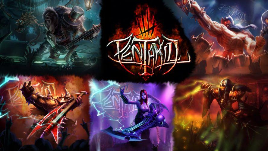 PENTAKILL League Legends fantasy heavy metal mmo online fighting wallpaper