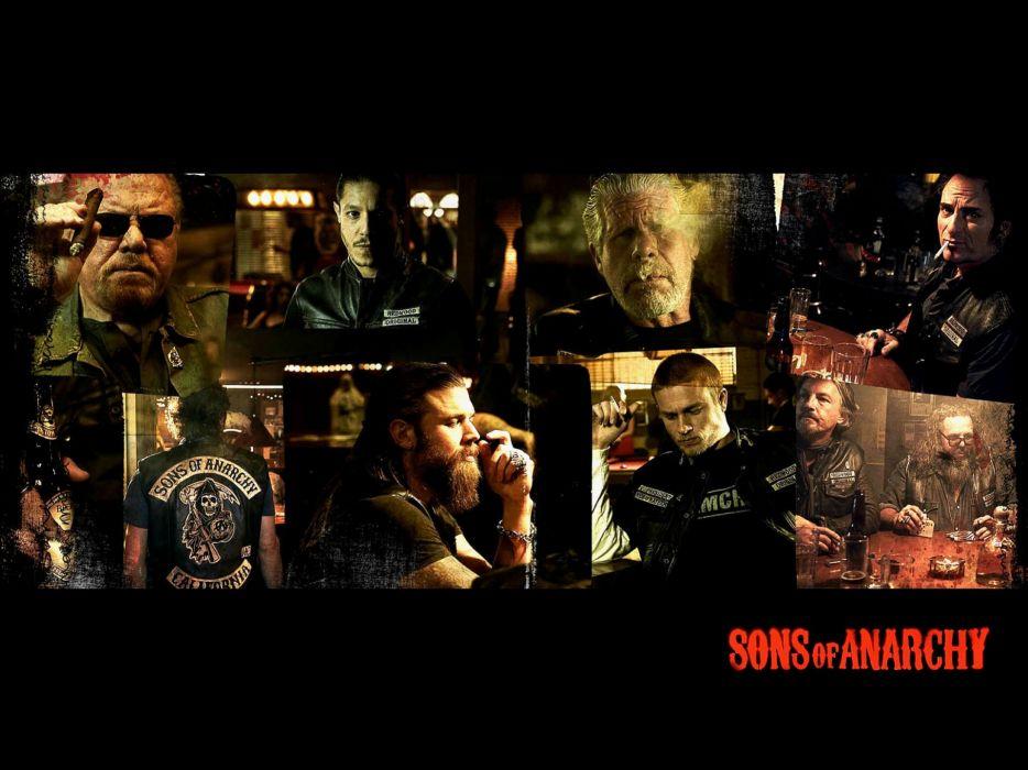 SONS OF ANARCHY series biker crime drama thriller wallpaper