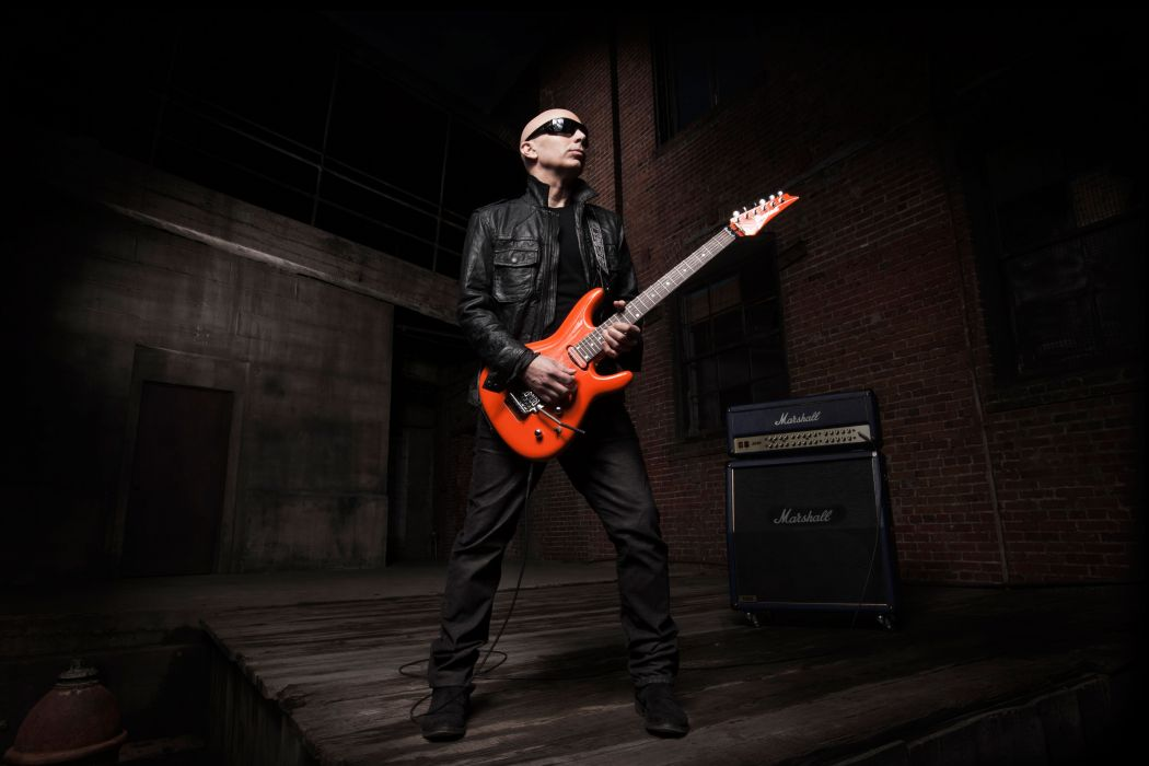 JOE SATRIANI instrumental rock hard heavy metal guitar concert wallpaper