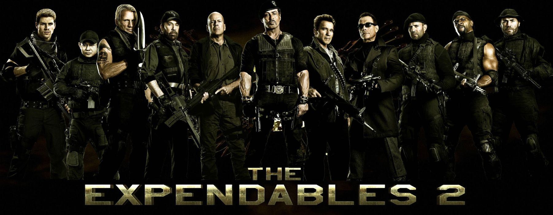 EXPENDABLES 2 action adventure thriller (16) wallpaper