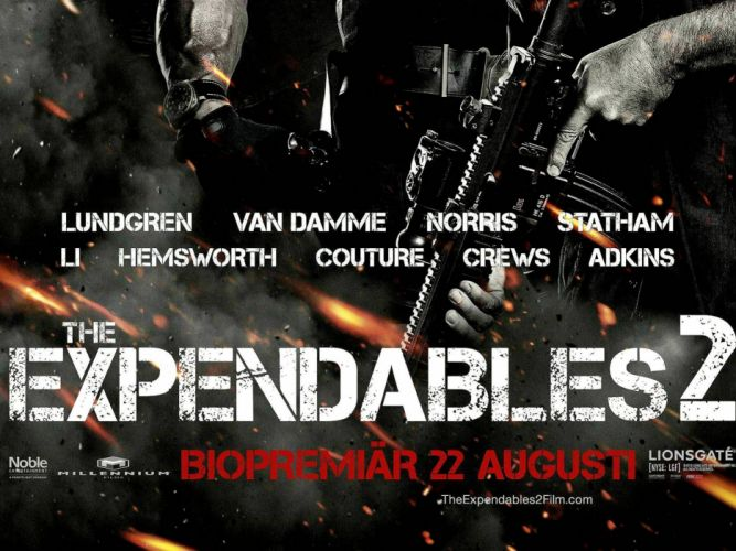 EXPENDABLES 2 action adventure thriller (40) wallpaper
