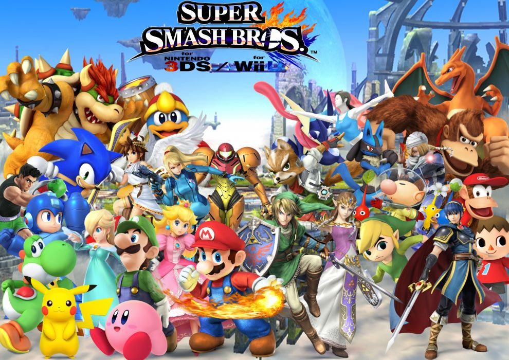 SUPER SMASH BROS nintendo family fighting action platform wallpaper