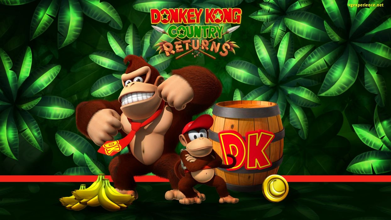 Donkey Kong Nintendo Family Platform Scrolling Wallpaper