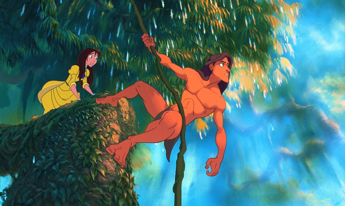TARZAN action adventure family animation wallpaper