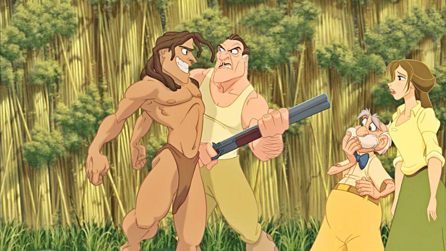 TARZAN action adventure family animation wallpaper