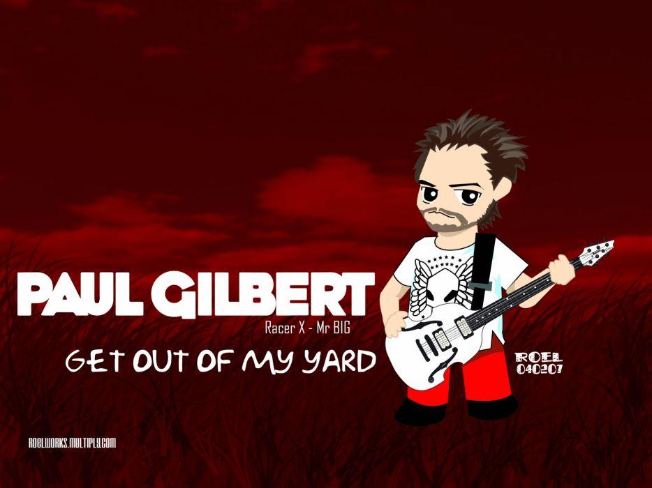 PAUL GILBERT guitar heavy metal hard rock racer-x wallpaper