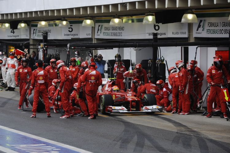 alonso massa 2012 cars f2012 Ferrari Formula one race stands pit-lane stands paddocks tyres change mA wallpaper