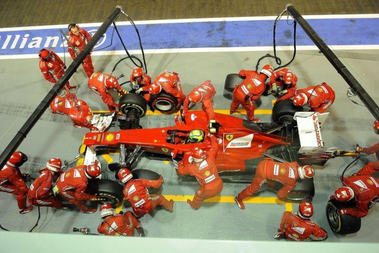 alonso massa 2012 cars f2012 Ferrari Formula one race stands pit-lane stands paddocks tyres change mA wallpaper