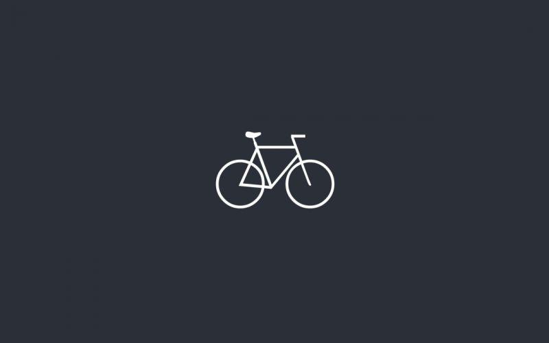 minimalism bike wallpaper