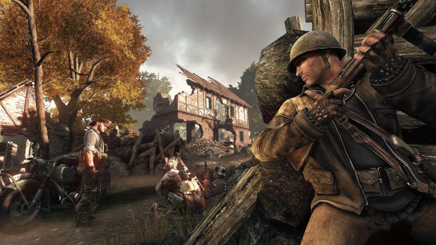 ENEMY FRONT war military shooter ww2 wwll fighting battle wallpaper