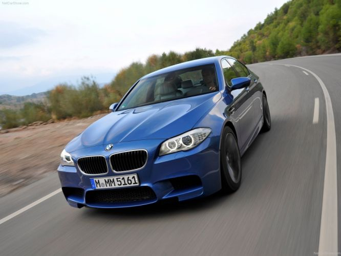 2012 bmw M5 F10 sedan blue bleue blu wallpaper
