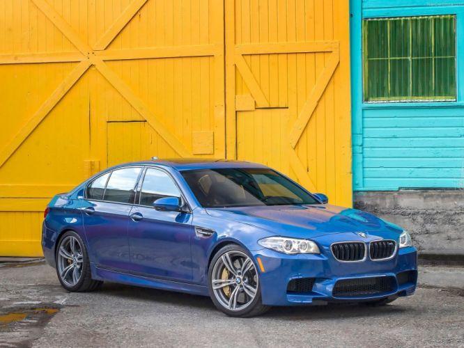 2014 bmw M5 F10 sedan blue bleue blu wallpaper