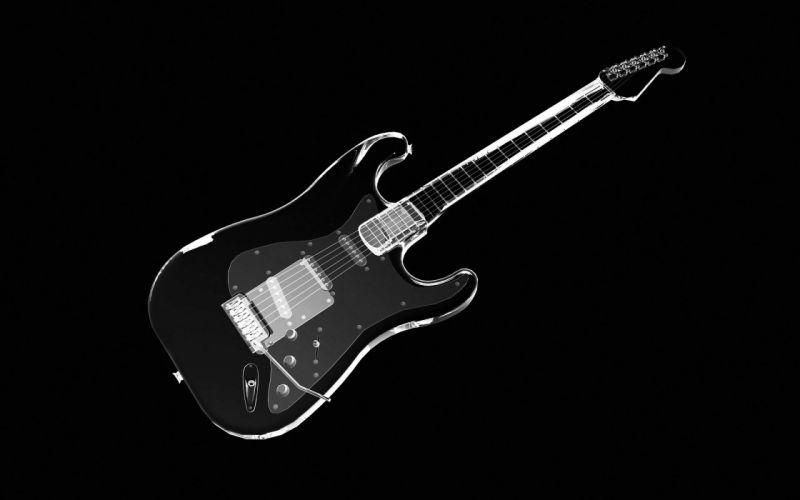 Black Guitar wallpaper