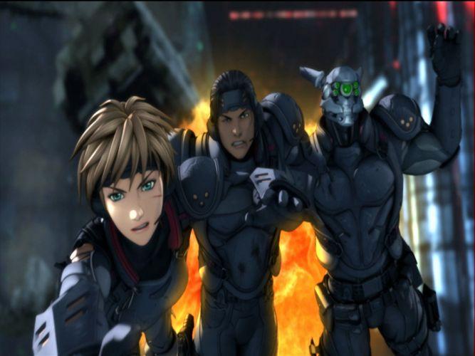 APPLESEED anime fighting manga cyberpunk sci-fi wallpaper