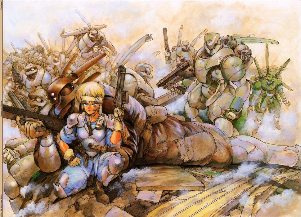 Appleseed Anime Fighting Manga Cyberpunk Sci Fi Wallpaper 2579x1862 410761 Wallpaperup