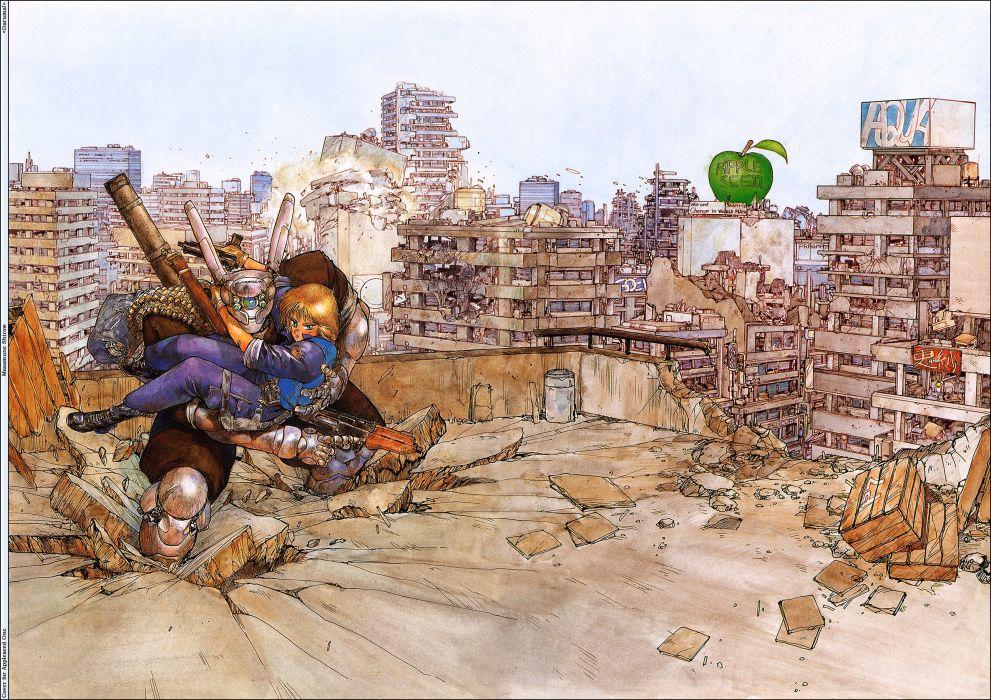Appleseed Anime Fighting Manga Cyberpunk Sci Fi Wallpaper 2579x1822 410767 Wallpaperup