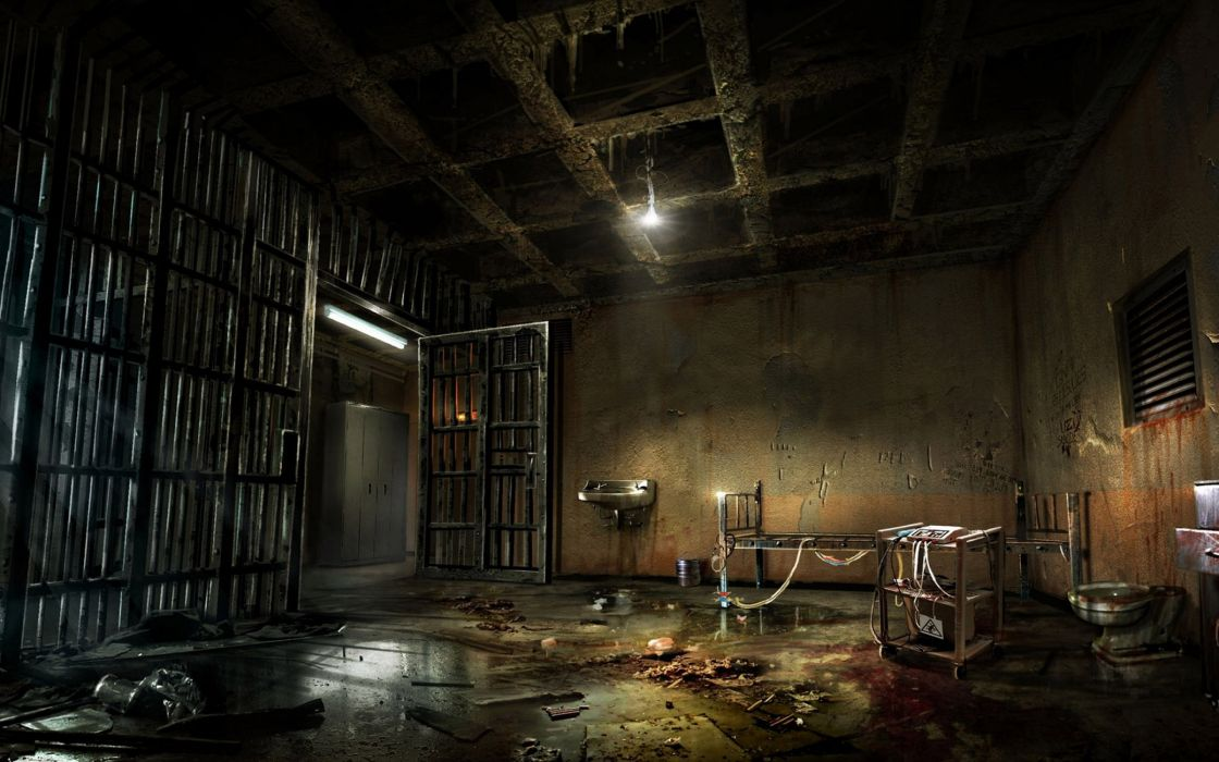ALONE-IN-THE-DARK survival horror adventure dark alone wallpaper