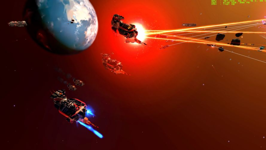 HOMEWORLD sci-fi spaceship strategy real-time space simulation 3-d wallpaper